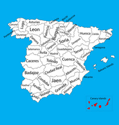 Canary islands map spain province administrative vector