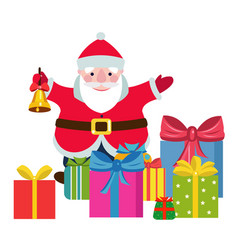 cartoon santa claus with a gifts vector image
