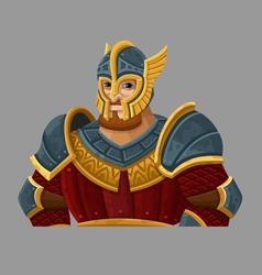 Cartoon warrior 1 vector