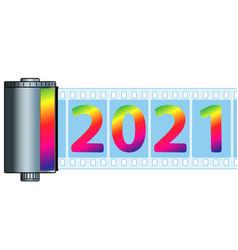 Cassette film 2021 vector