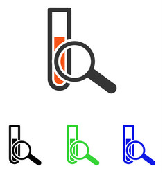 chemical test flat icon vector image