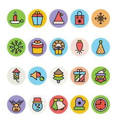Christmas Icons 4 vector image