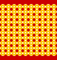 Circles pattern - basic duotone red-yellow vector