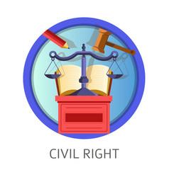 Civil right subject studies themed concept logo vector