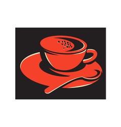 Coffee cup bubbles spoon retro vector