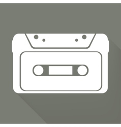 Compact Cassette icon flat design hipster style vector image