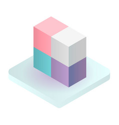 cube solution icon isometric style vector image