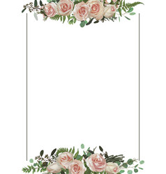 decorative golden rectangular frame vector image