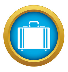 Diplomat icon blue isolated vector