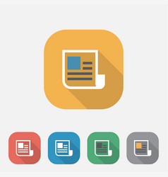 document flat icon vector image