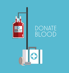 Donate blood campaign vector