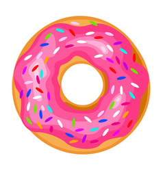 Donut icon round sweet colorful pastry doughnut vector