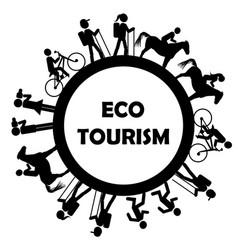 eco tourism icon vector image