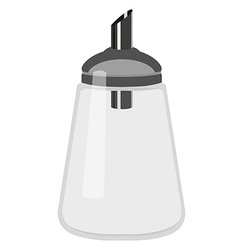 Empty sugar dispenser vector