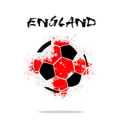 Flag of england as an abstract soccer ball vector