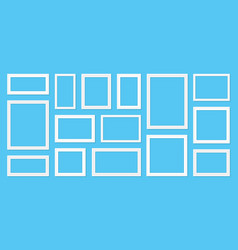 frame template set for pictures and photos on the vector image