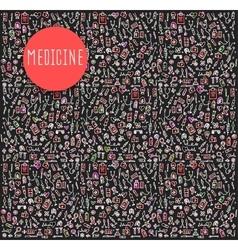 Hand drawn Medicine element vector image