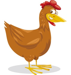 hen farm animal cartoon vector image