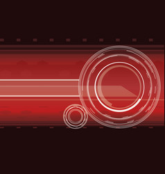 hi-tech background in red color vector image
