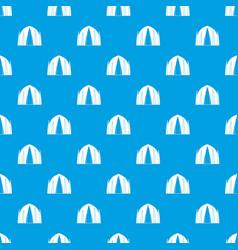 Human house pattern seamless blue vector