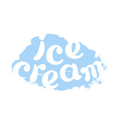 Ice cream white vector