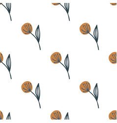 Isolated dandelion seamless pattern on white vector