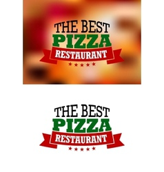 Italian pizza banner vector