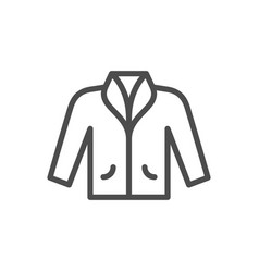 jacket line icon vector image