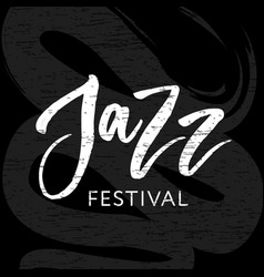 Jazz festival text lettering calligraphy black vector