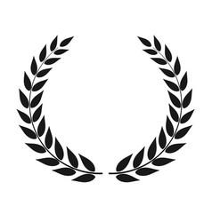 Laurel wreath isolated vector