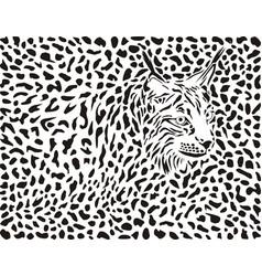 Lynx background vector