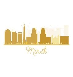 Minsk City skyline golden silhouette vector