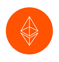Modified symbol of digital crypto currency vector