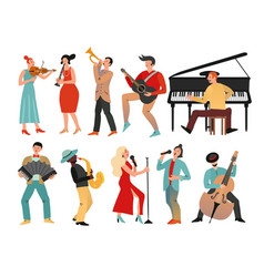 musicians professional orchestra and musician vector image