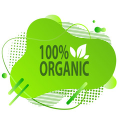 natural product vegan food sticker set vector image
