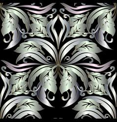 ornate 3d baroque seamless pattern floral vintage vector image