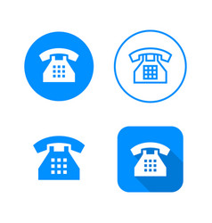 phone icon four variants classic symbol icon in vector image
