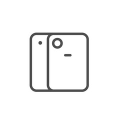 protective cover for device line icon vector image