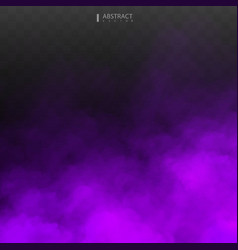 purple fog or smoke isolated transparent special vector image