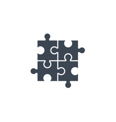 puzzle related glyph icon vector image
