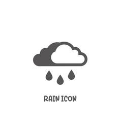 rain icon simple flat style vector image