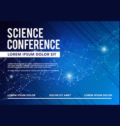 Science conference business design brochure vector