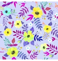 Seamless floral background Isolated watercolor vector image
