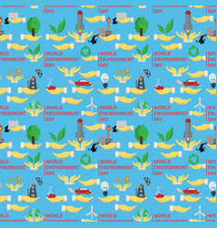 Seamless pattern flat 2 of elements for design vector