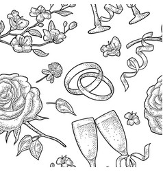 seamless pattern for wedding invitation vector image