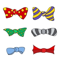 Set of colorful bow vector image