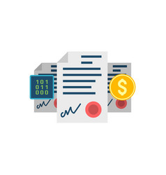 smart contract concept icon vector image