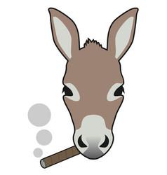 smoke donkey vector image