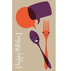 Social happy kitchen vector