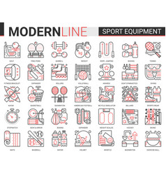 sport fitness equipment complex thin red black vector image